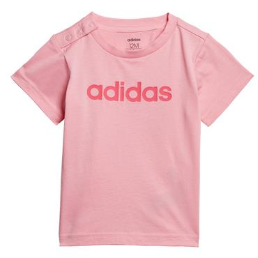 Adidas Infant Linear T-Shirt - Pink