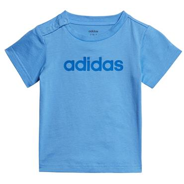 Adidas Infant Linear T-Shirt - Blue