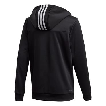 Adidas Boy's Training 3 Stripe FZ - BLACK