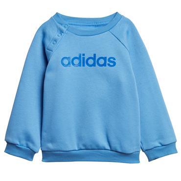 Adidas Infant Linear Jogger Tracksuit - Blue/Grey
