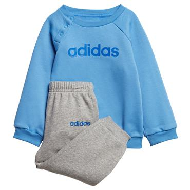 Adidas Infant Linear Jogger Tracksuit - Blue/Grey