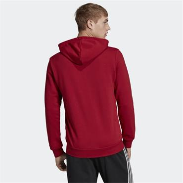 Adidas Mens Essentials Plain Full Zip Hoodie - Red