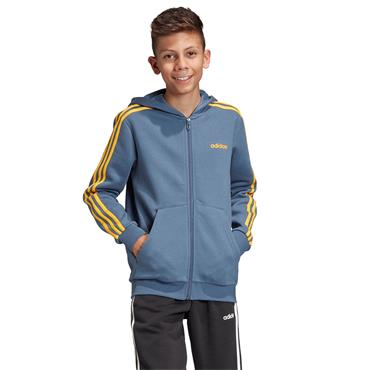 Adidas Boys Essentials 3 Stripes Hoodie - Blue