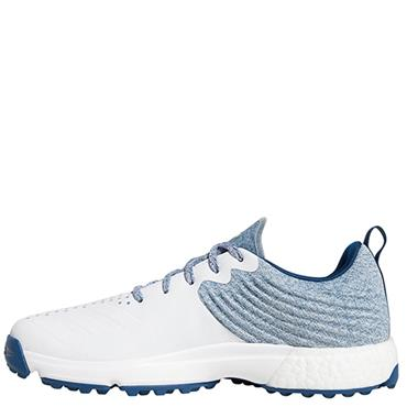 Adidas Mens Adipower 4ORGED Golf Shoes - White/Blue