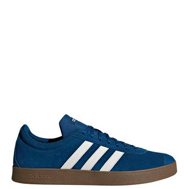 ADIDAS MENS VL COURT 2.0 TRAINERS - BLUE/BROWN