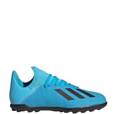 Adidas Kids X 19.3 Astro Turf Boot - Blue