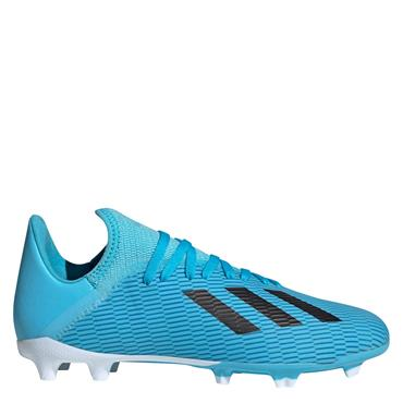 Adidas Kids X 19.3 Firm Ground Football Boots - Blue