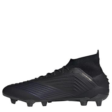 Adidas Adults Predator 19.1 Firm Ground Football Boots - BLACK