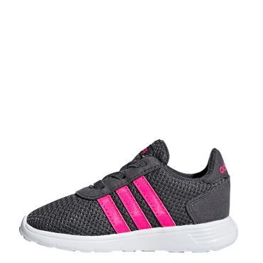 Adidas Infant Lite Racer Trainers - Grey/Pink