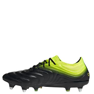 ADIDAS MENS COPA 19.1 SG FOOTBALL BOOTS - BLACK/YELLOW