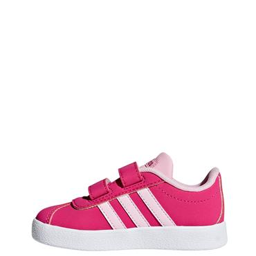Adidas Infant VL Court 2.0 CMF Trainers - Pink