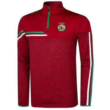 O'Neills Adults FDNY GAA Nevis 122 Brushed Half Zip - Red