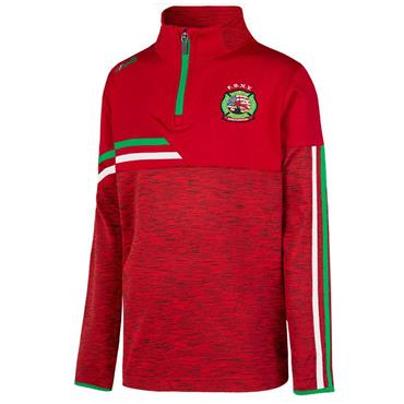 O'Neills Kids FDNY GAA Nevis 122 Brushed Half Zip - Red