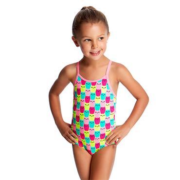 Funkita Girls Minty Mittens Swimsuit - Pink Mulit