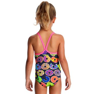 Funkita Girls Dunking Donuts Swimsuit - Navy Multi