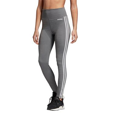 Adidas Womens Design to Move 3 Stripes Leggings - Grey