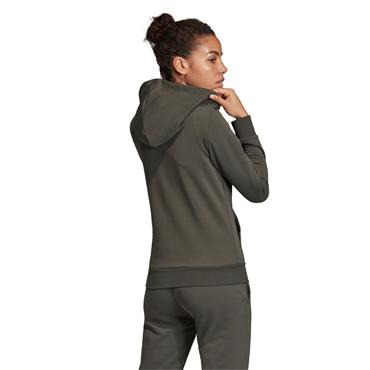 Adidas Womens Essentials Linear Full Zip Hoodie - Green