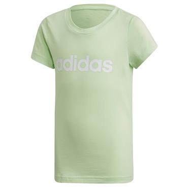 Adidas Girls Essentials Linear T-Shirt - Lime