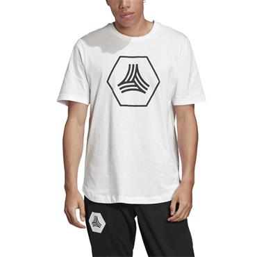 Adidas Mens Tan Big Logo T-Shirt - White