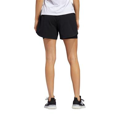 Adidas Women's 2 In 1 Woven Shorts - BLACK