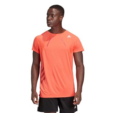 Adidas Mens Heat Logo T-Shirt - Orange