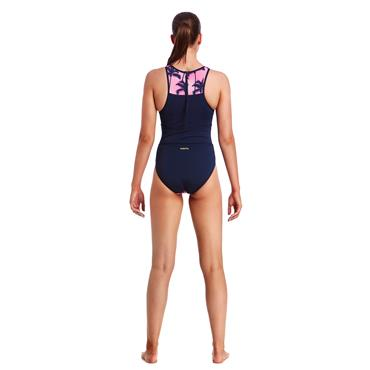 Funkita Womens Pop Palms Swimsuit - Navy Multi