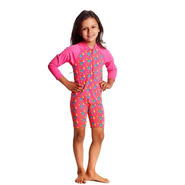 Funkita Girls Cray Cray Swimsuit - Pink Mulit