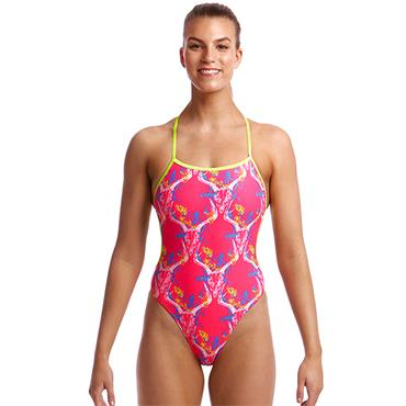 Funkita Womens Twisted Sweet Skulls Swimsuit - Pink