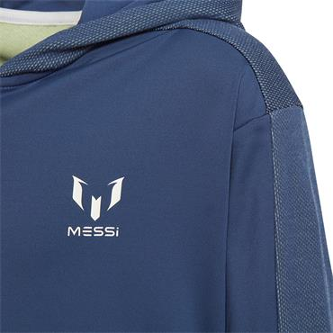Adidas Boys Messi Full Zip Hoodie - Navy