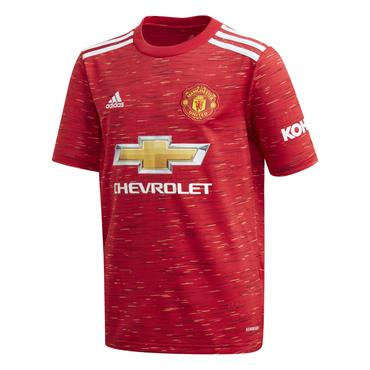 Adidas Kids Manchester United 2020/21 Home Jersey - Red