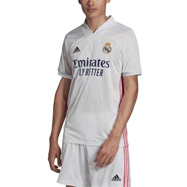 Adidas Mens Real Madrid 2020/21 Home Jersey - White