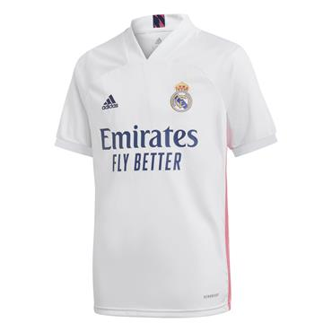 Adidas Kids Real Madrid 2020/21 Home Jersey - White