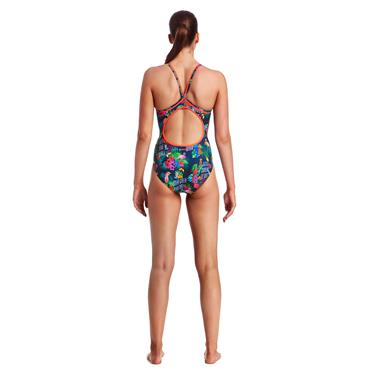 WOMENS TROPIC TAG SWIMSUIT - MULTI COLOURED