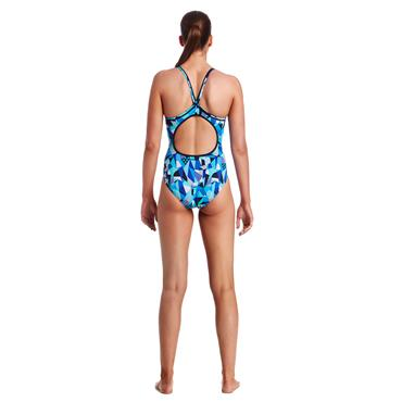 Funkita Womens Crack Attach Swimsuit - Blue Multi