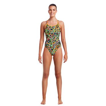 Funkita Womens Strapped In Swimsuit - Black Multi