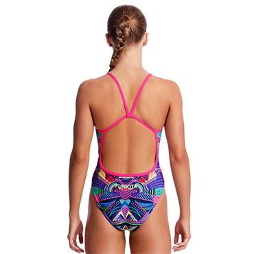 Funkita Girls Wolf Pack Swimsuit - Navy Multi