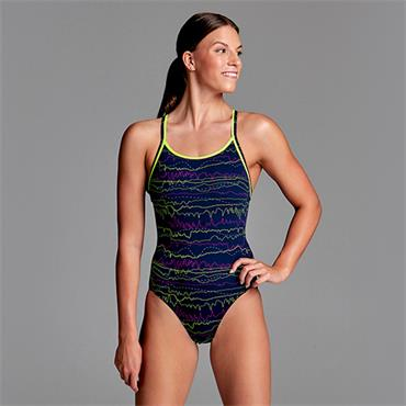 Funkita Womens Sound System Swimsuit - Navy