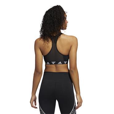 Adidas Womens Alphaskin Sports Bra - BLACK