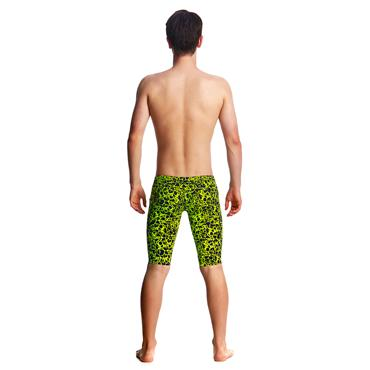 BOYS CORAL GOLD FUNKY TRUNKS - BLACK/YELLOW
