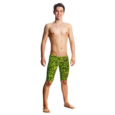 FUNKY TRUNKS BOYS CORAL GOLD JAMMERS - BLACK/YELLOW