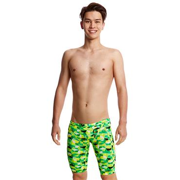 Funky Trunks Boys Blast Fusion Jammers - Green
