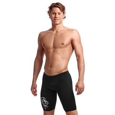 Funky Trunks Mens Chromed Training Jammers - BLACK
