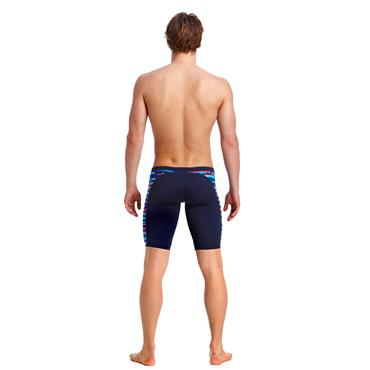 MENS MESHED UP FUNKY TRUNKS - NAVY/MULTI