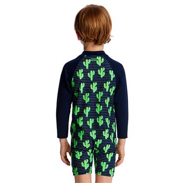 Funky Trunks Boys Prickly Pete Jumpsuit - Navy/Green
