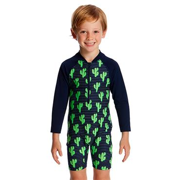 FUNKITA BOYS PRICKLY PETE JUMPSUIT - NAVY/GREEN