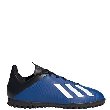 Adidas Kids X 19.4 Astro Turf Boots - Blue