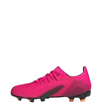 Adidas Kids X Ghosted .3 GF Football Boots - Black/Pink
