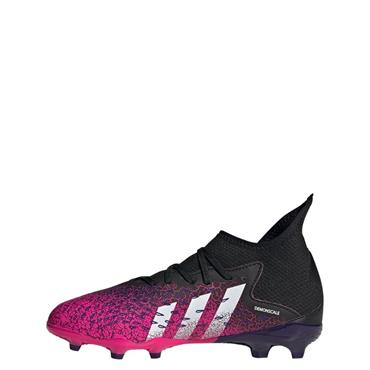 Adidas Kids Predator Freak .3 FG Football Boots - Black/Pink