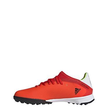 Kids Adidas X Speedflow.3 Turf Boot - Red