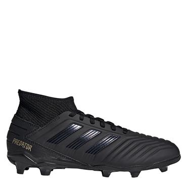 Adidas Kids Predator 19.3 Firm Ground Football Boots - BLACK